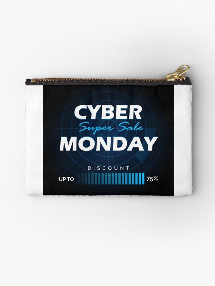 cyber monday sale design template studio pouches by devaleta