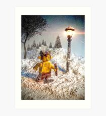 Lego Mr Tumnus (Chronicles of Narnia) Art Print