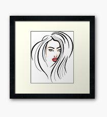 Beautiful Female Face Framed Print