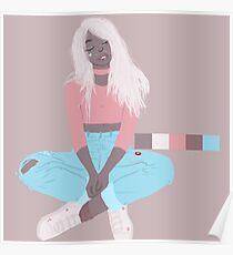 pastel blonde Poster