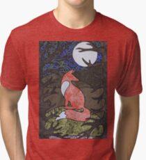 Fox through the Hedge Tri-blend T-Shirt
