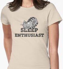 Sleep Enthusiast Cat Nap T Shirt Womens Fitted T-Shirt