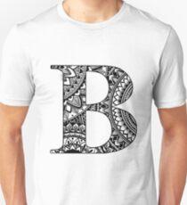 Mandala Letter B Unisex T-Shirt