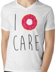 I Donut Care Funny Quote Mens V-Neck T-Shirt