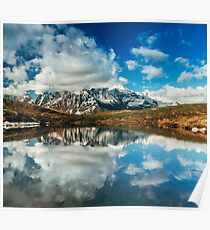 Snowy Mountain Photography Poster