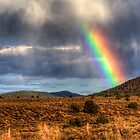 Rainbow over Taos by Bill Wetmore