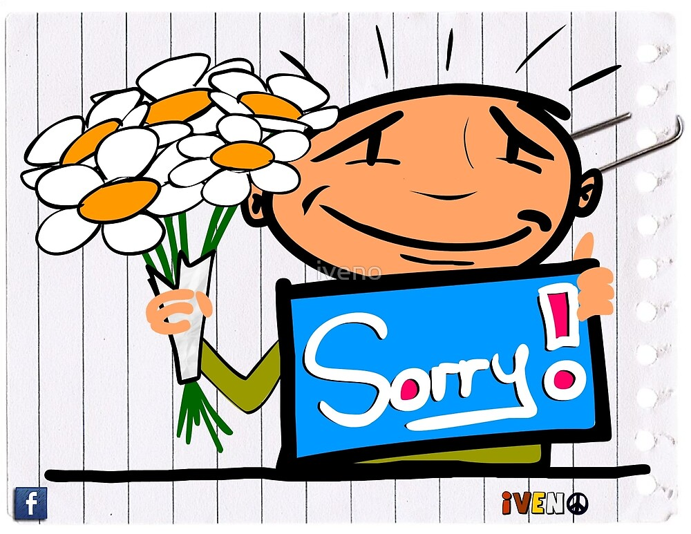 Be kind by saying sorry by iveno