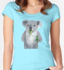 Koala with Koalafication Polygon Art Women's Fitted Scoop T-Shirt