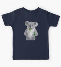 Koala with Koalafication Polygon Art Kids Tee