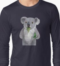 Koala with Koalafication Polygon Art Long Sleeve T-Shirt