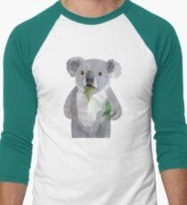 Koala with Koalafication Polygon Art Men's Baseball ¾ T-Shirt
