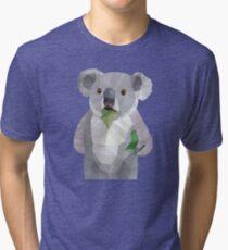 Koala with Koalafication Polygon Art Tri-blend T-Shirt