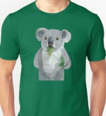Koala with Koalafication Polygon Art Unisex T-Shirt