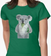 Koala with Koalafication Polygon Art Women's Fitted T-Shirt