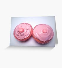 Two Pink Cupcakes Greeting Card
