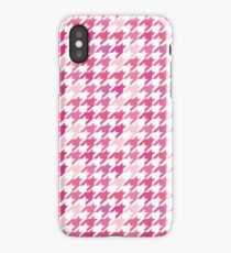 HOT Pink Houndstooth Pattern iPhone Case