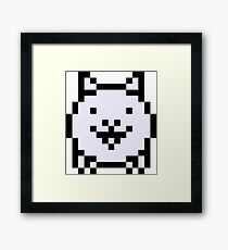 Pixel Battle Cat Framed Print