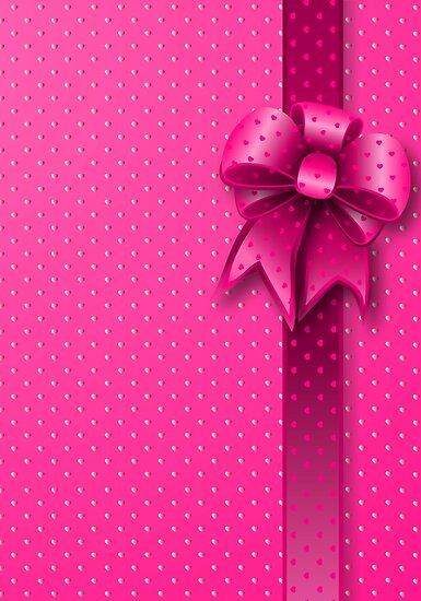 Pink Present Bow by MEDUSA GraphicART