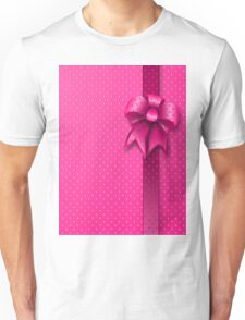 Pink Present Bow Unisex T-Shirt