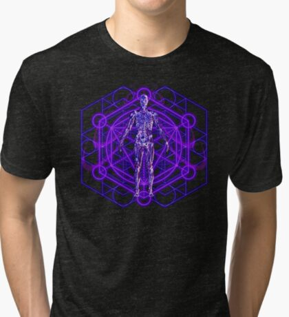 Sacred Geometry and the Human Body Tri-blend T-Shirt
