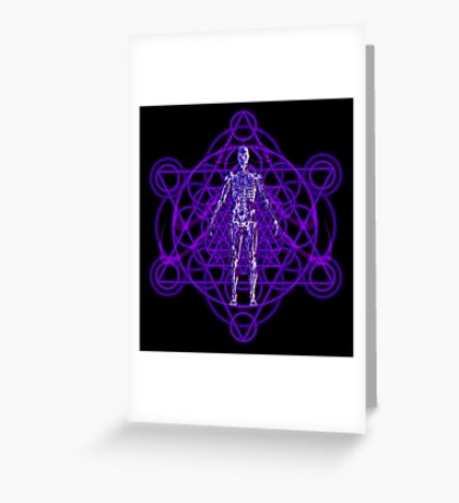 Sacred Geometry and the Human Body Greeting Card