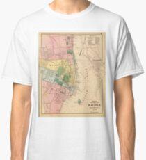 Vintage Map of Halifax Nova Scotia (1878) Classic T-Shirt