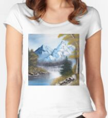 Blue Mountains Women's Fitted Scoop T-Shirt