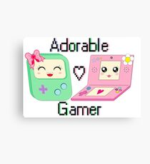Adorable Gamer ~ Devices Canvas Print