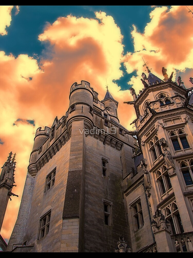 France. Pierrefonds. Château de Pierrefonds. Looking Up. by vadim19