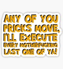 Quentin Tarantino Pulp Fiction Famous Popular Movie Quotes Film Cool Funny T-Shirts Sticker