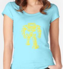 Manbot - Lime Variant Women's Fitted Scoop T-Shirt