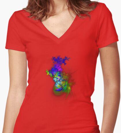 Vase of flowers #fractals Fitted V-Neck T-Shirt