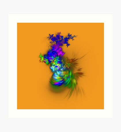 Vase of flowers #fractals Art Print