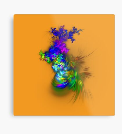 Vase of flowers #fractals Metal Print