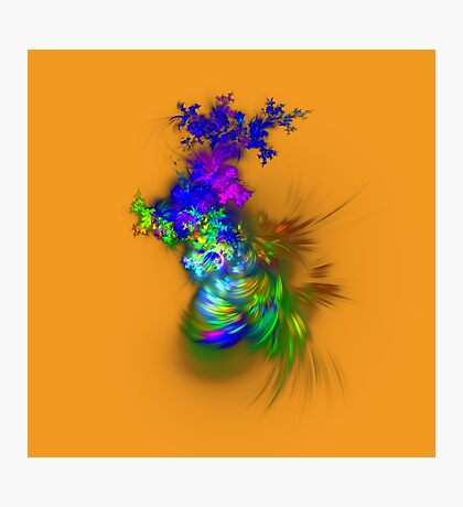 Vase of flowers #fractals Photographic Print