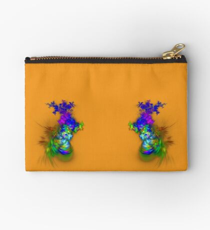 Vase of flowers #fractals Zipper Pouch