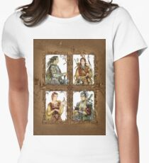King of Narnia - Peter,Susan,Lucy,Edmund Womens Fitted T-Shirt