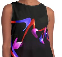 Abstract WOW - red, pink, purple Contrast Tank