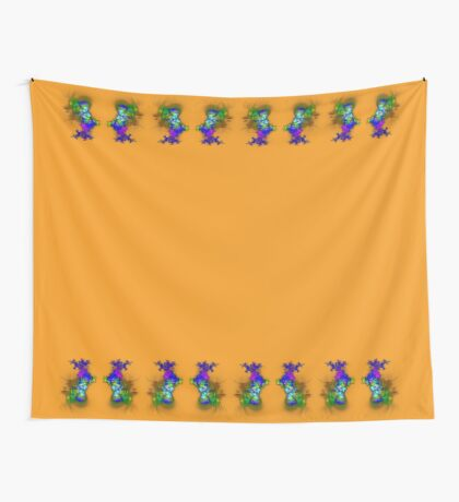Vase of flowers #fractals Wall Tapestry