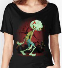 Zombie Creepy Monster Cartoon  Women's Relaxed Fit T-Shirt