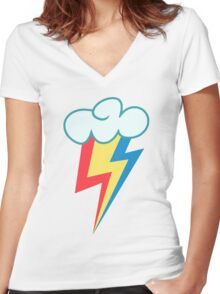 My little Pony - Equestria Girls Rainbow Dash Women's Fitted V-Neck T-Shirt