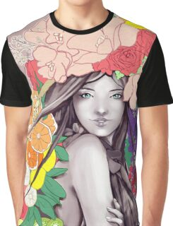 Flower Fruits Graphic T-Shirt
