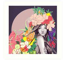 Flower Fruits Art Print