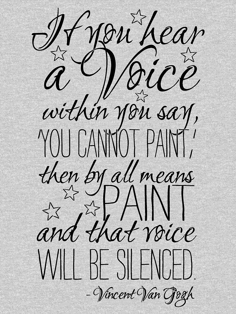 Beautiful quote by Vincent van Gogh by stylecomfy