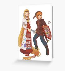 Udmurt Zelda Greeting Card