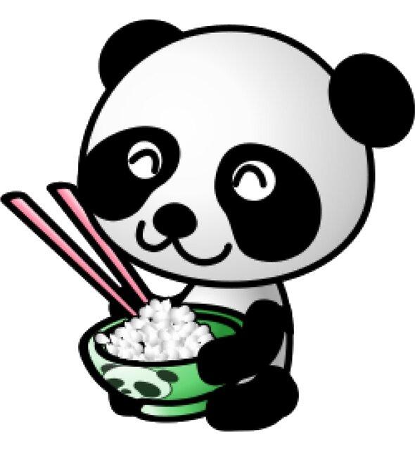 panda eating by MallsD