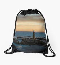 Dawn at Whitby Drawstring Bag