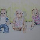 Three happy babies by Astrid de Cock