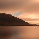 Loch Lomond golden Sunset by Maria Gaellman