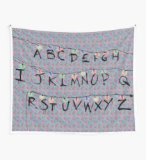 Stranger Things Alphabet Wall Tapestry